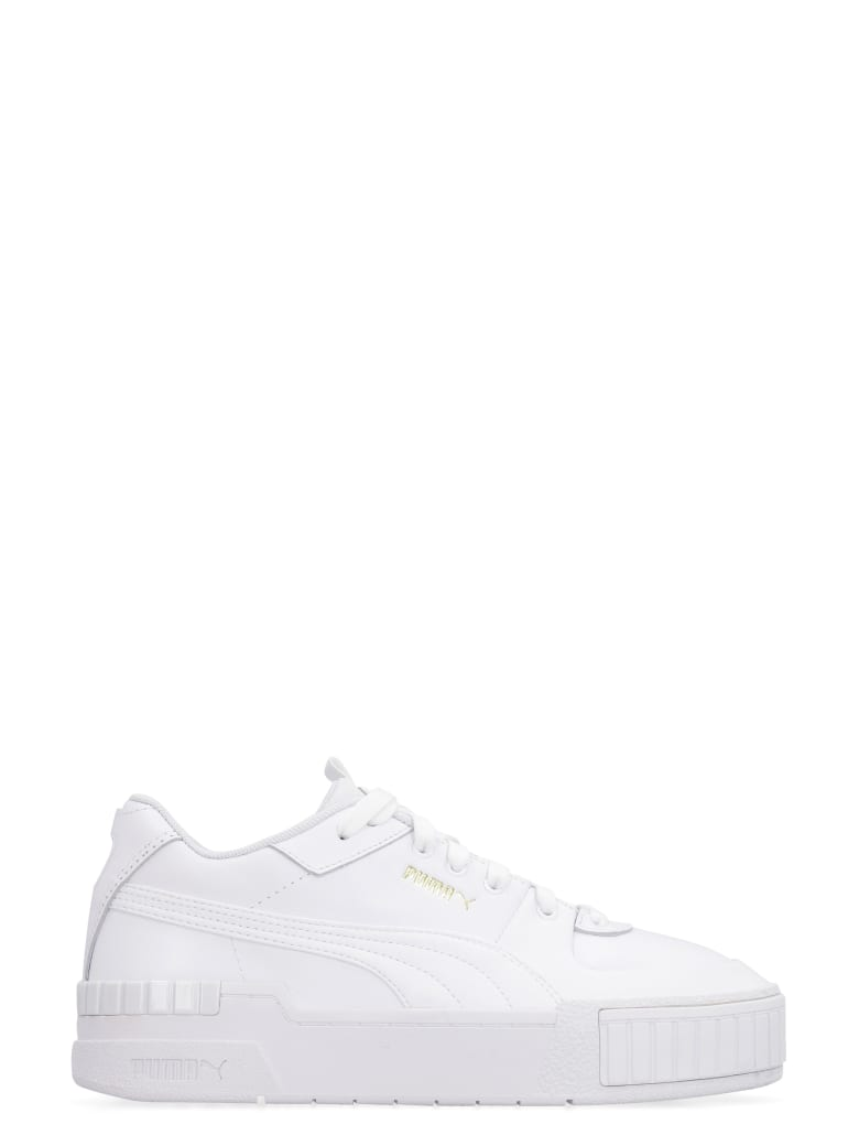 Puma Cali Leather Platform Sneakers - White