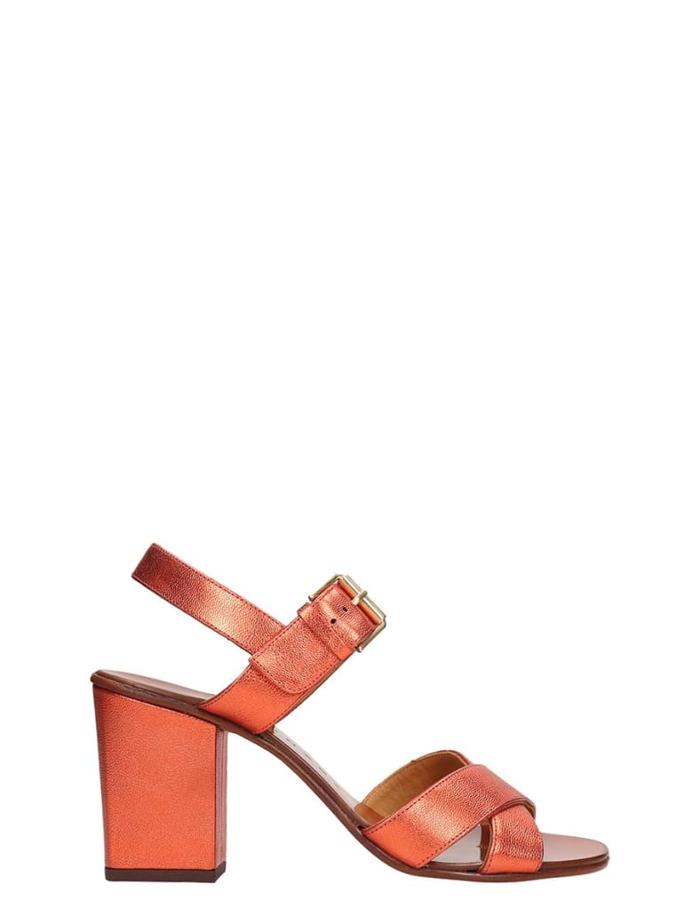 Chie Mihara Red Metallic Sandals Leather - red