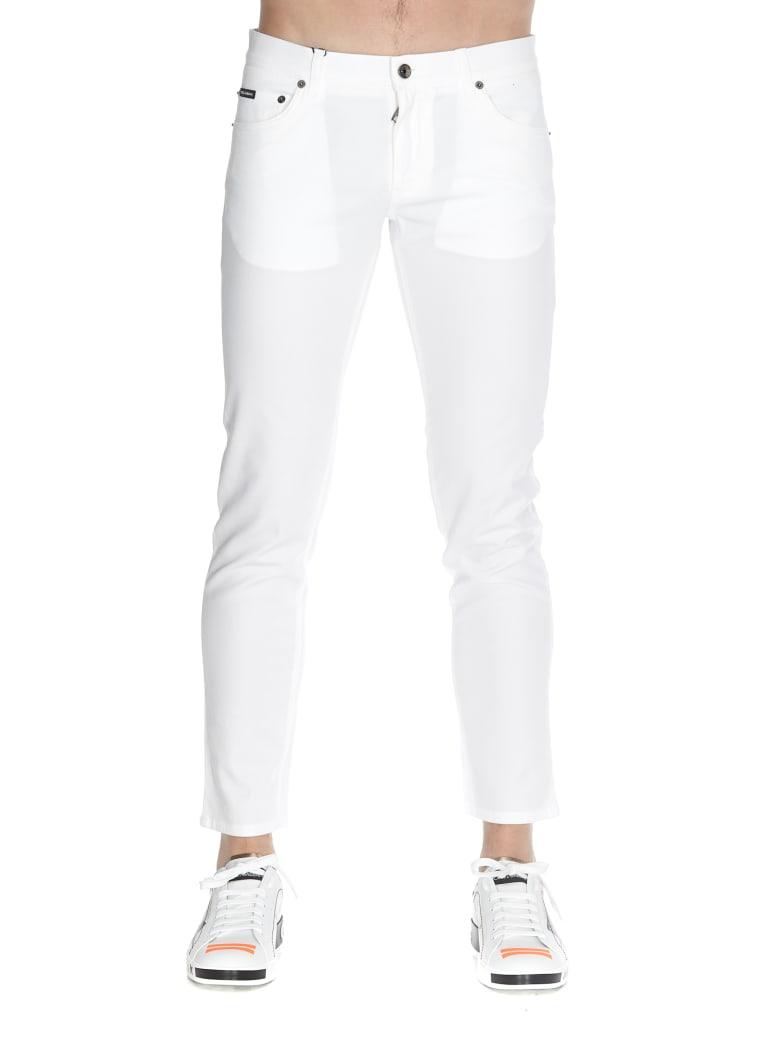 Dolce & Gabbana Trousers - Bianco naturale
