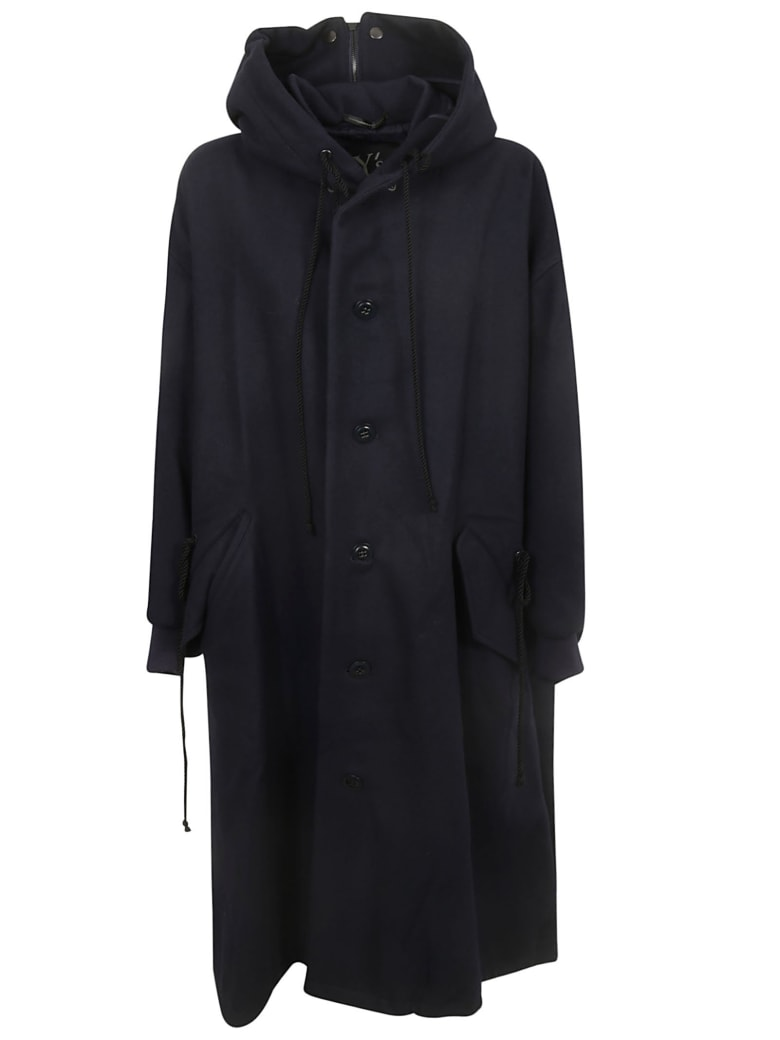 Y's Button-up Coat - Navy