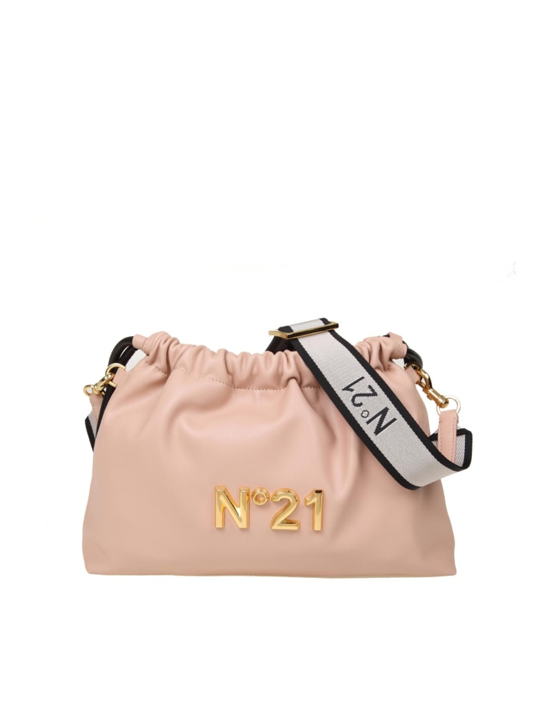 N.21 N ° 21 Eva Pouch Bag With Logo - Nude
