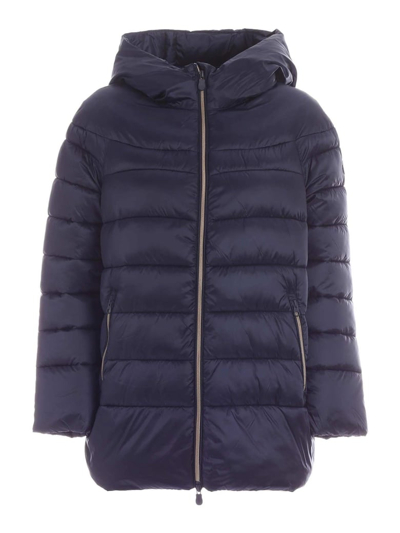 Save the Duck Hooded Down Jacket - Blu