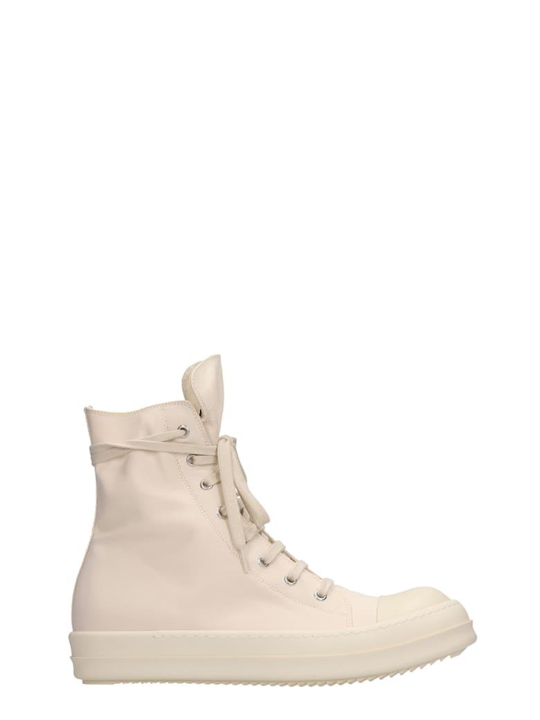 drkshdw-ramones-beige-nylon-and-canvas-sneakers by drkshdw
