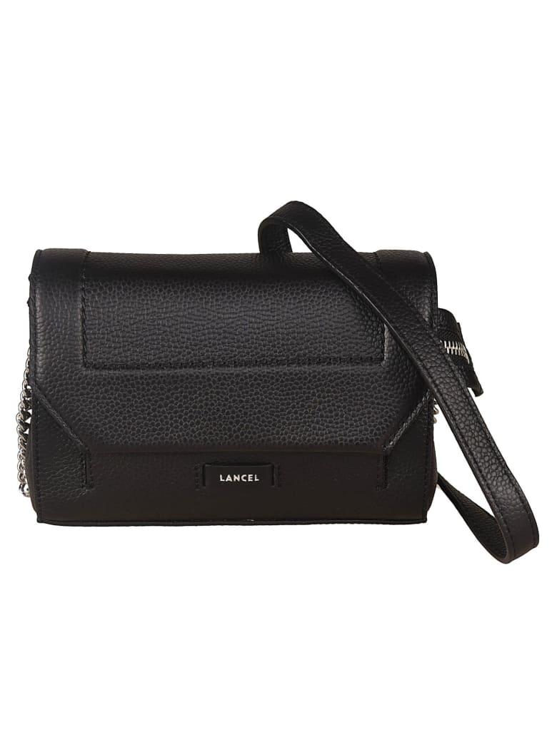 Lancel Logo Detail Shoulder Bag - Black