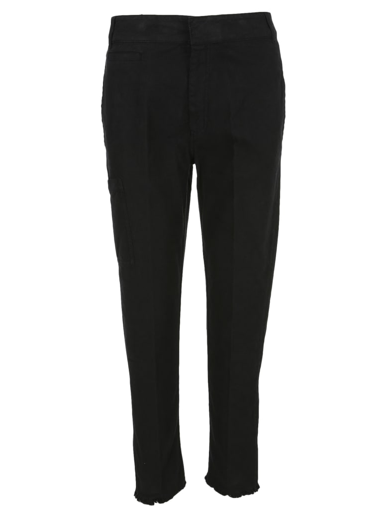 Haider Ackermann Raw-hem Tapered Trousers - BLACK