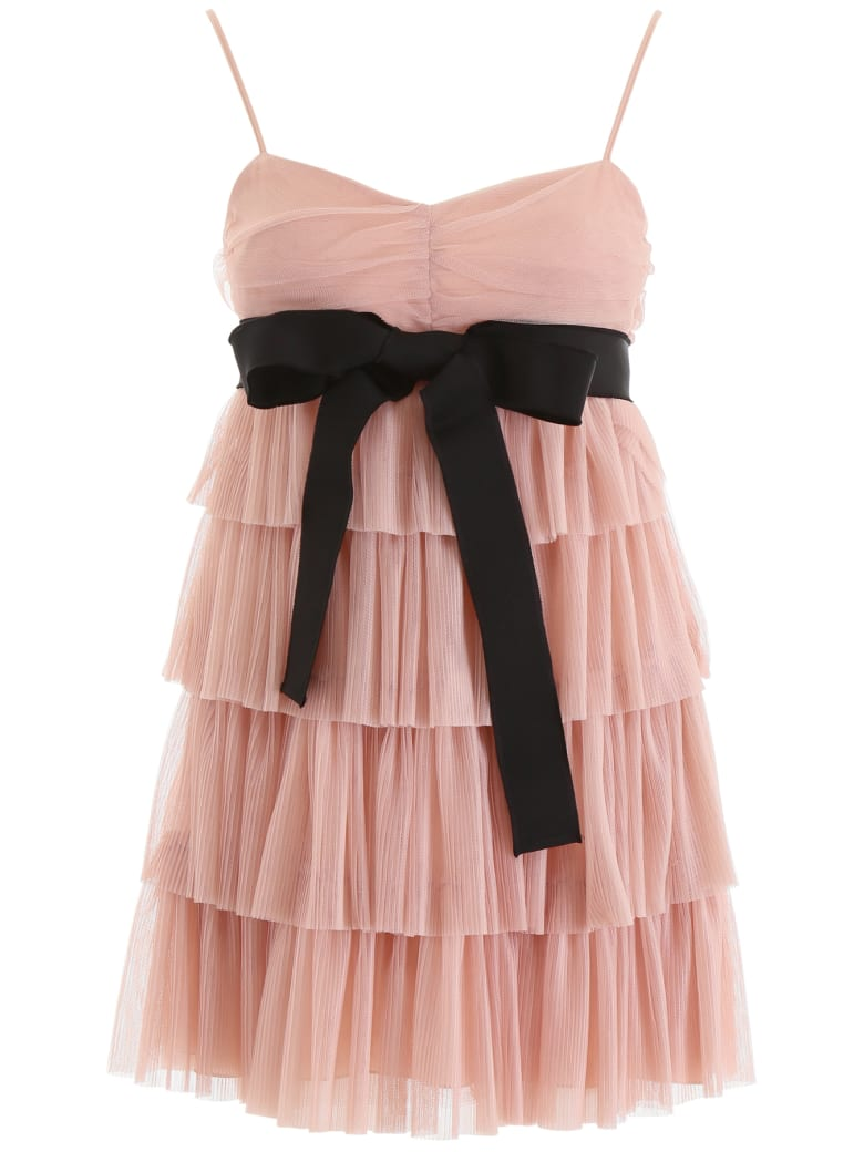 RED Valentino Layered Tulle Mini Skirt - NUDE (Pink)