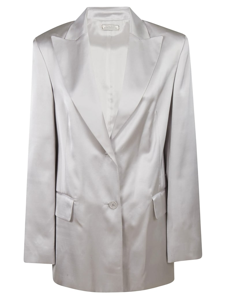 Nina Ricci Single Breasted Blazer - Silver