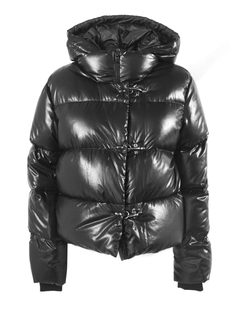 Fay 3 Hooks Black Down Jacket - Nero