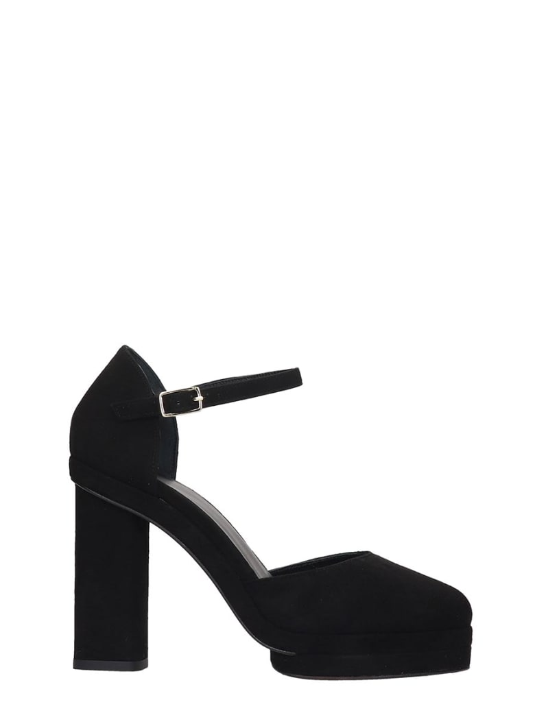 Castañer Charlotte  Sandals In Black Suede - black
