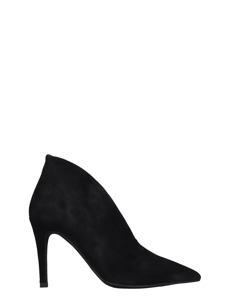 Jeffrey Campbell Electron  High Heels Ankle Boots In Black Suede - black