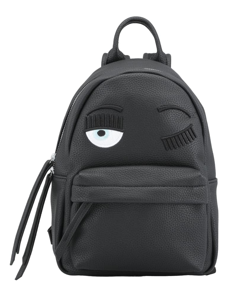 Chiara Ferragni Flirting Small Backpack - BLACK