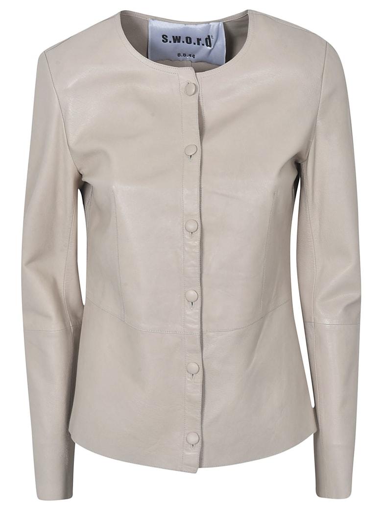 S.W.O.R.D 6.6.44 Leather Jacket - Beige