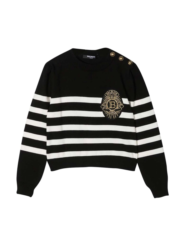 Balmain Black Striped Shirt - Nero