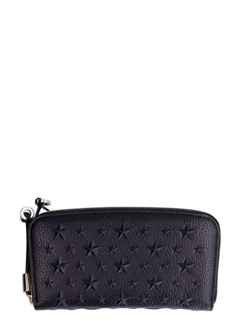 Jimmy Choo Filipa Leather Zip Around Wallet - black