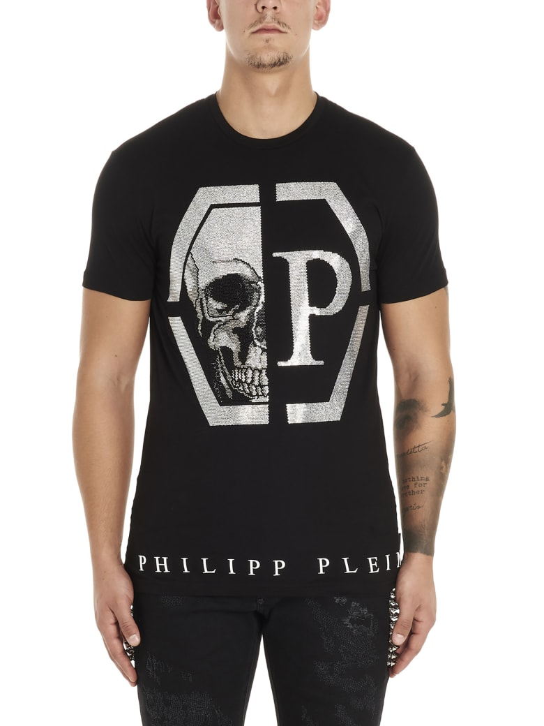 Philipp Plein 'esagonal Skull' T-shirt - Black