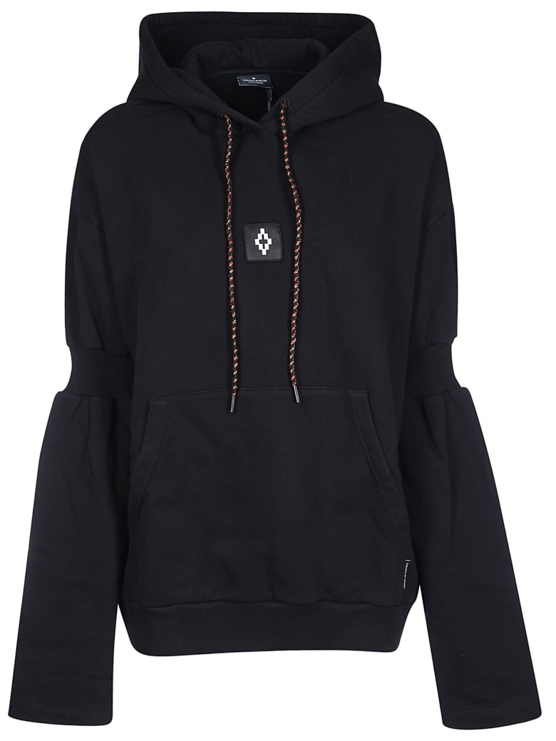 Marcelo Burlon Attached Shoulder Hoodie - Blue
