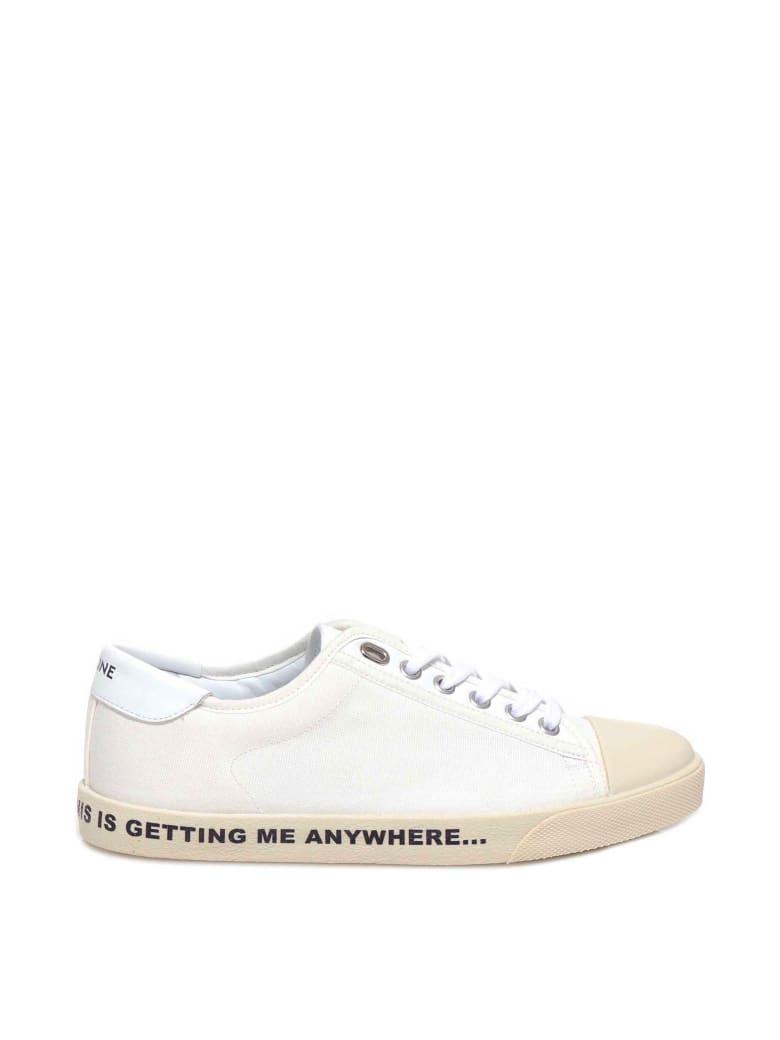 Celine Celine Blank Canvas Sneakers - White