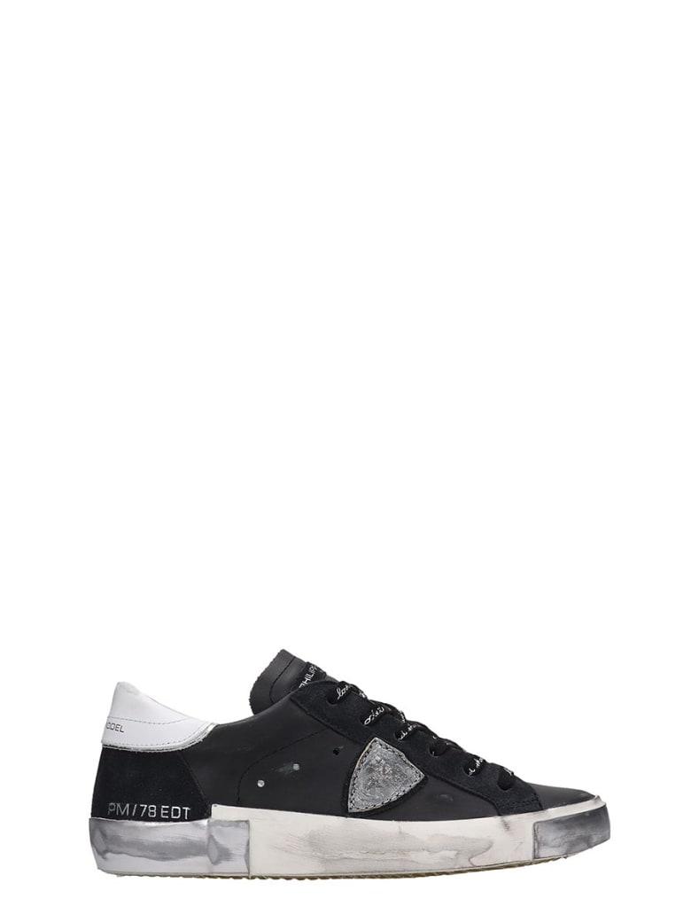 Philippe Model Prsx L Sneakers In Black Leather - black