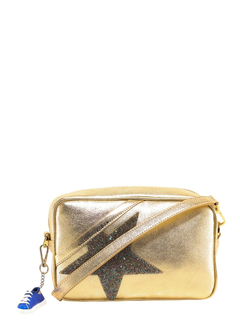 Golden Goose Glitter Star Patch Shoulder Bag - Gold