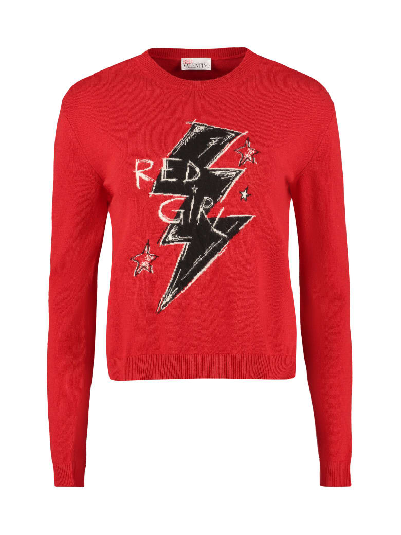RED Valentino Intarsia Crew-neck Sweater - red