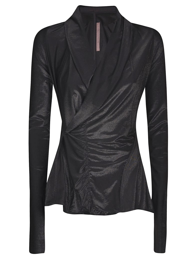 Rick Owens Lilies Lilies Wrap Fitted Jacket - Black