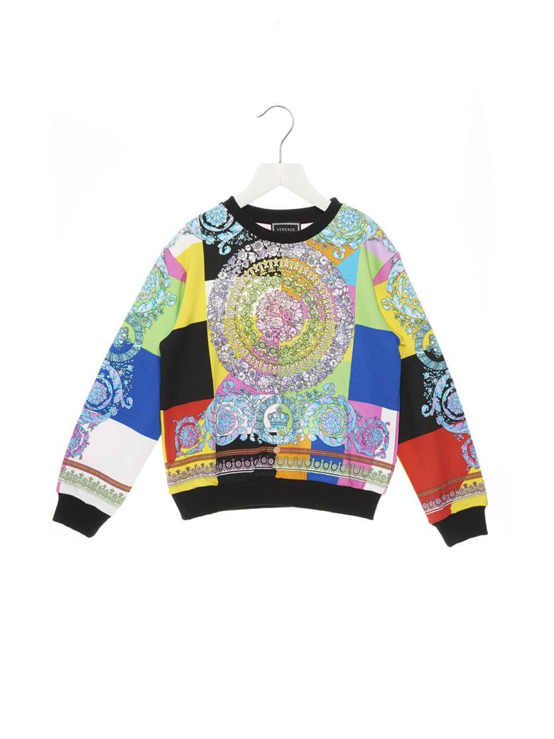 Young Versace 'barocco Pastel' Sweatshirt - Multicolor