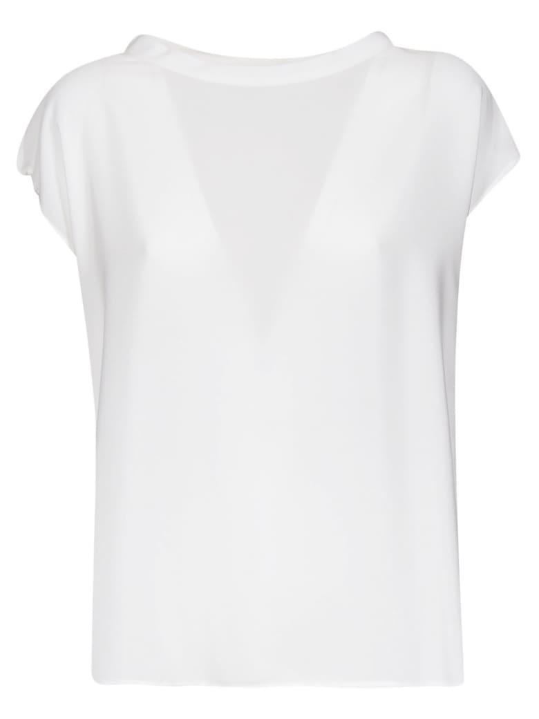 Aspesi Wide Neck Blouse - White