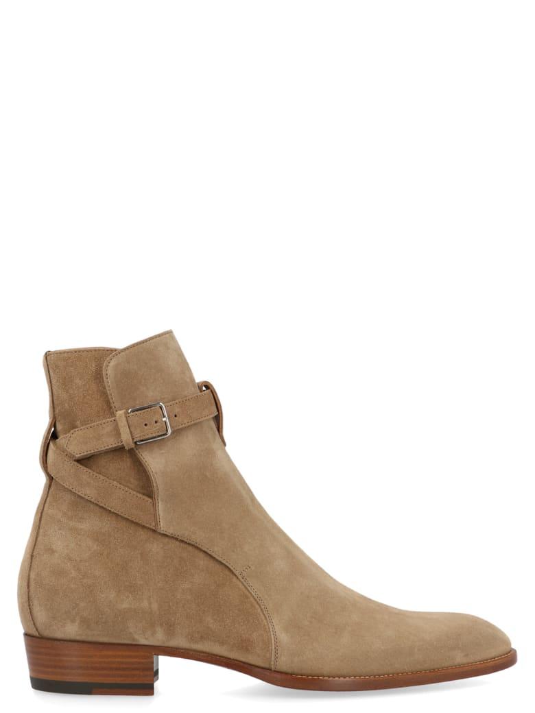 Saint Laurent 'wyatt' Shoes - Beige