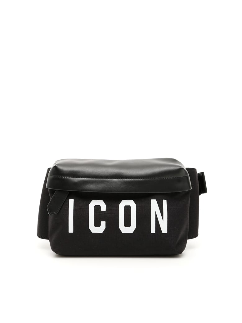 Dsquared2 Icon Belt Bag - NERO BIANCO (Black)