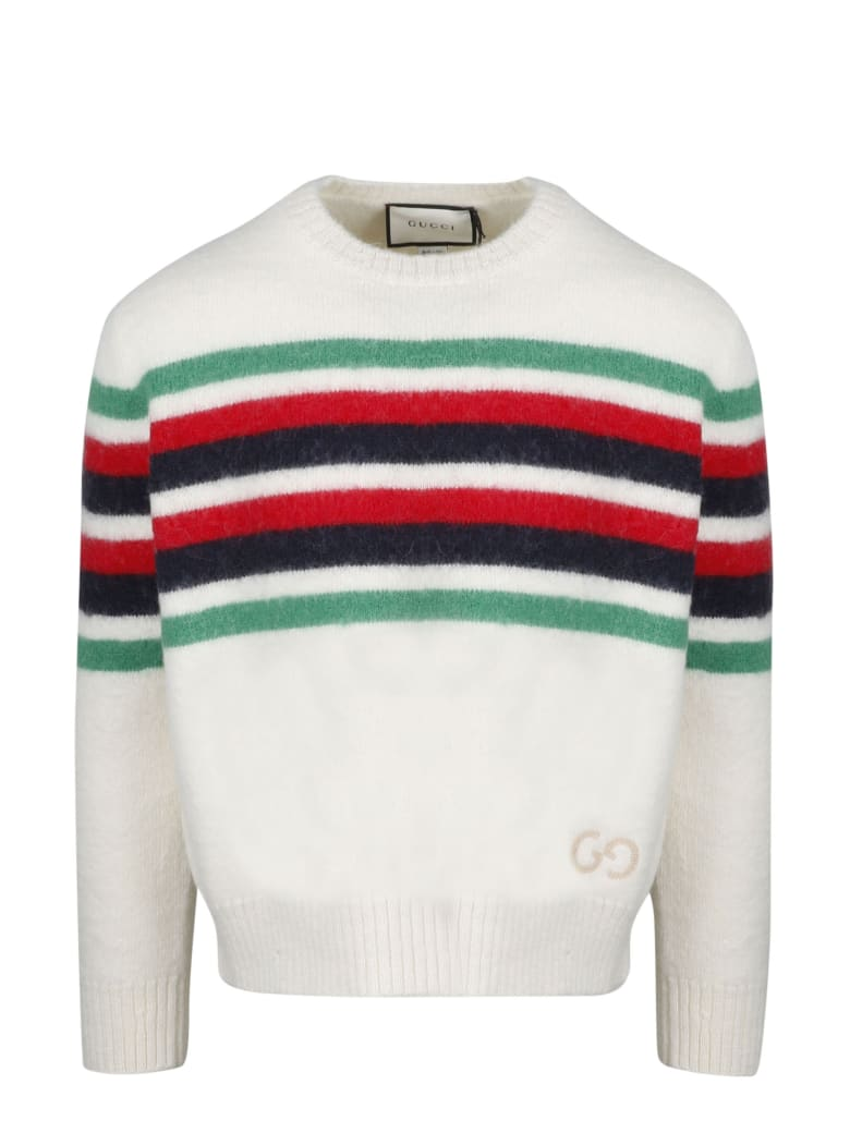 Gucci Gg Striped Pullover - White
