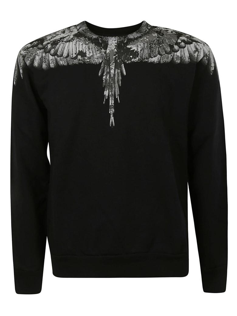 Marcelo Burlon Camo Wings Regular Crewneck Sweatshirt - Black/Dark Grey