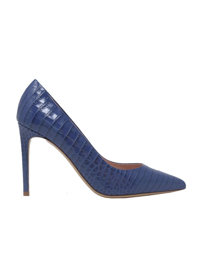 Ninalilou E Coco Print Leather Pumps - BLUE