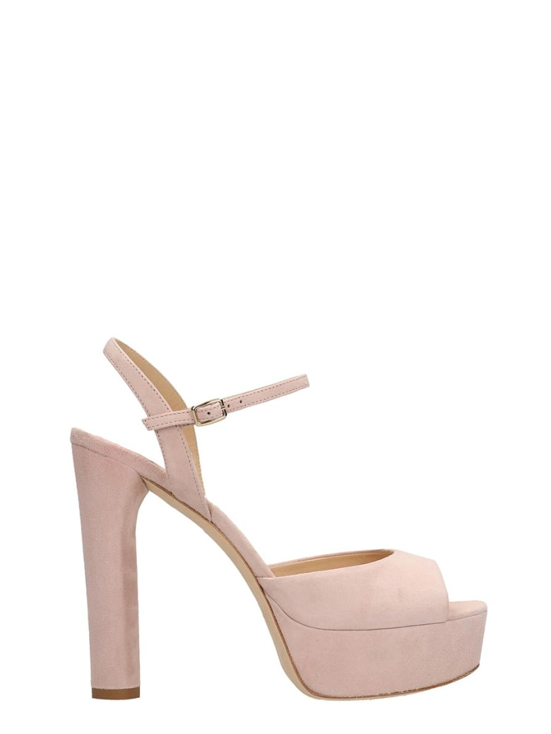 The Seller Pink Suede Sandals - rose-pink