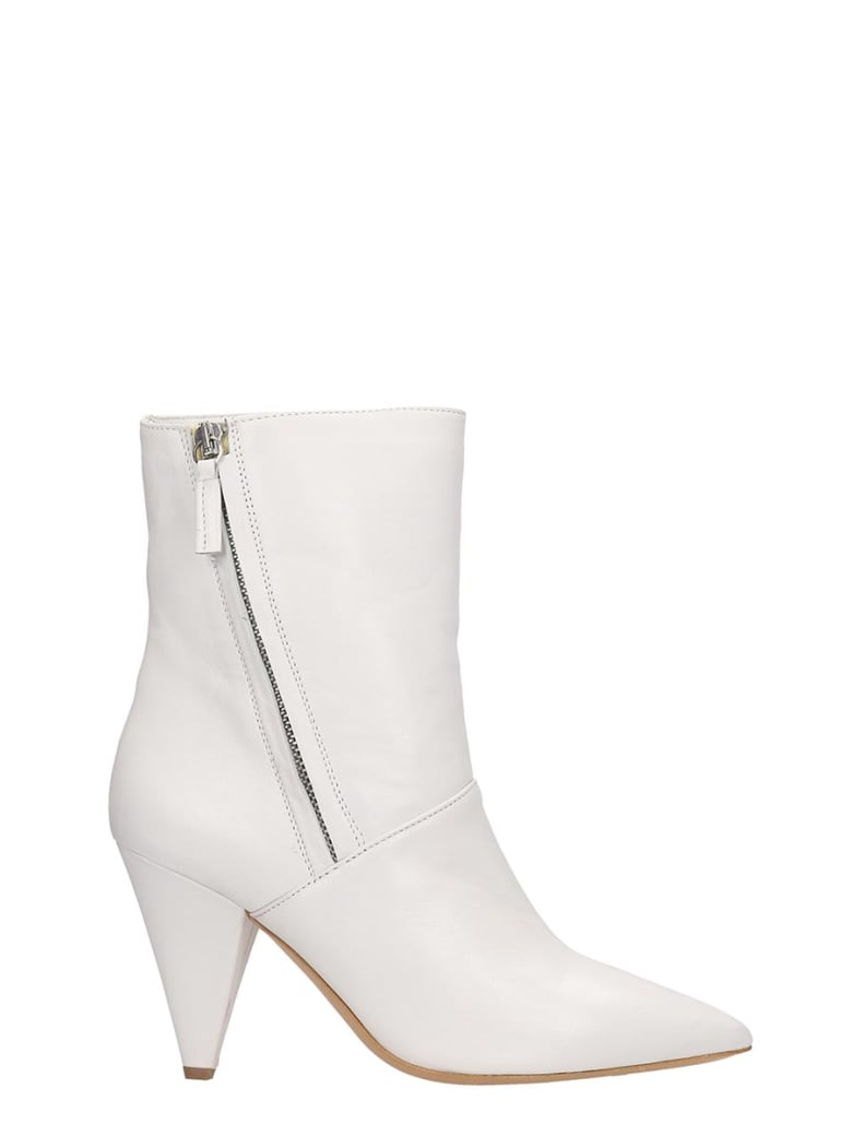 The Seller Ankle Boots In White Leather - white