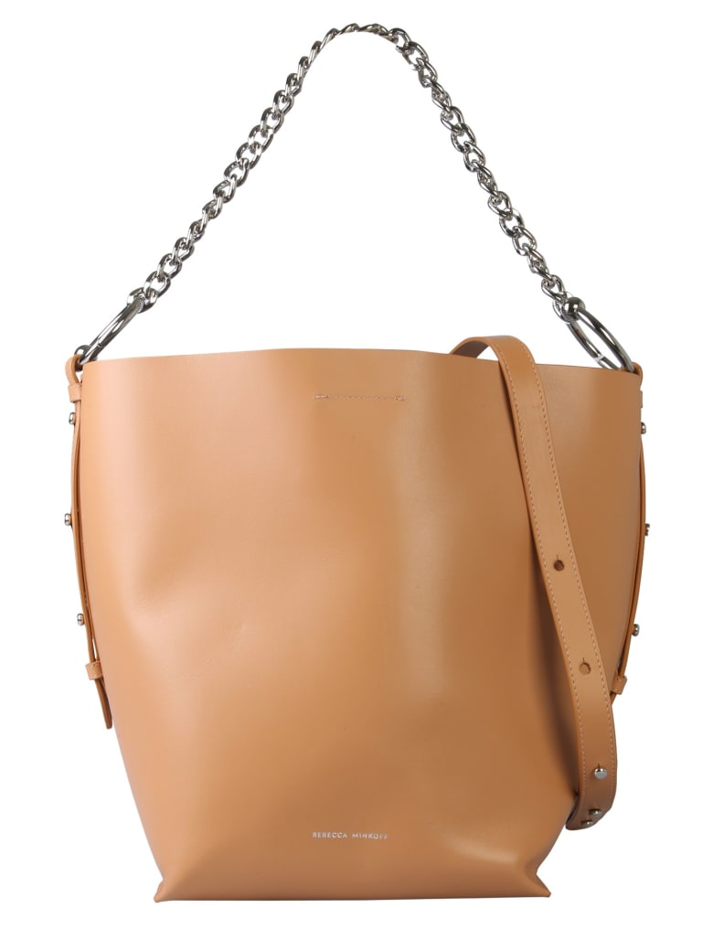 Rebecca Minkoff Leather Shopping Bag - MARRONE