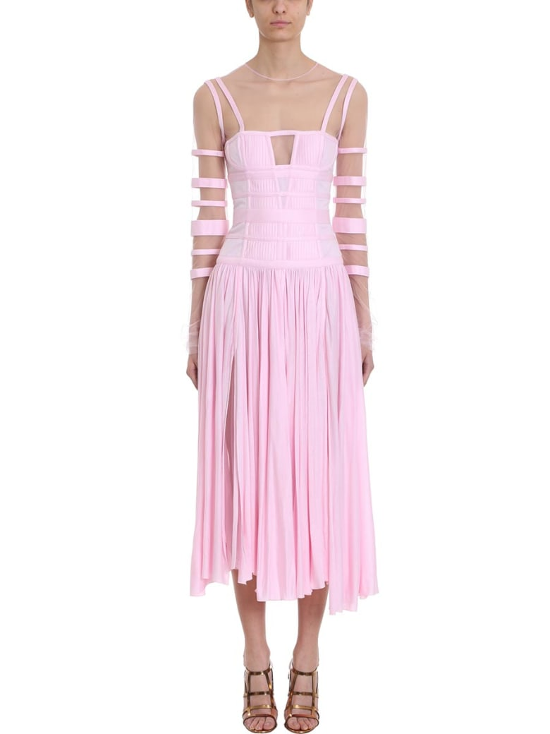 Giovanni Bedin Long-sleeve Midi Dress - rose-pink