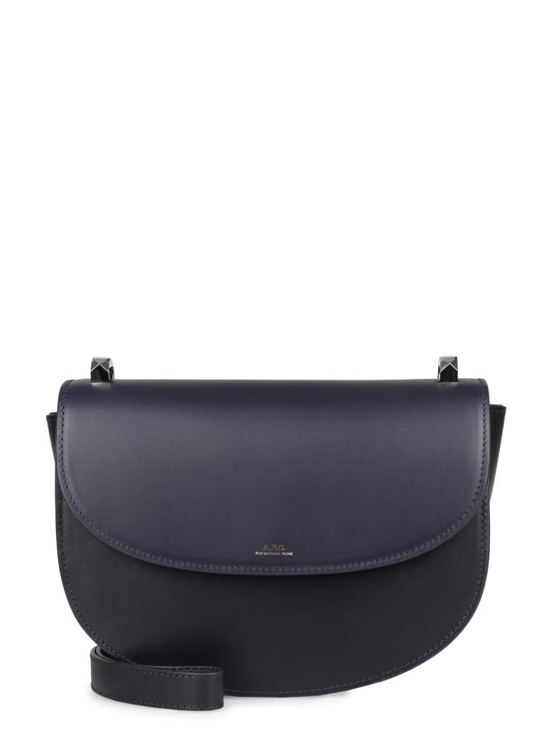 A.P.C. Genève Leather Crossbody Bag - blue