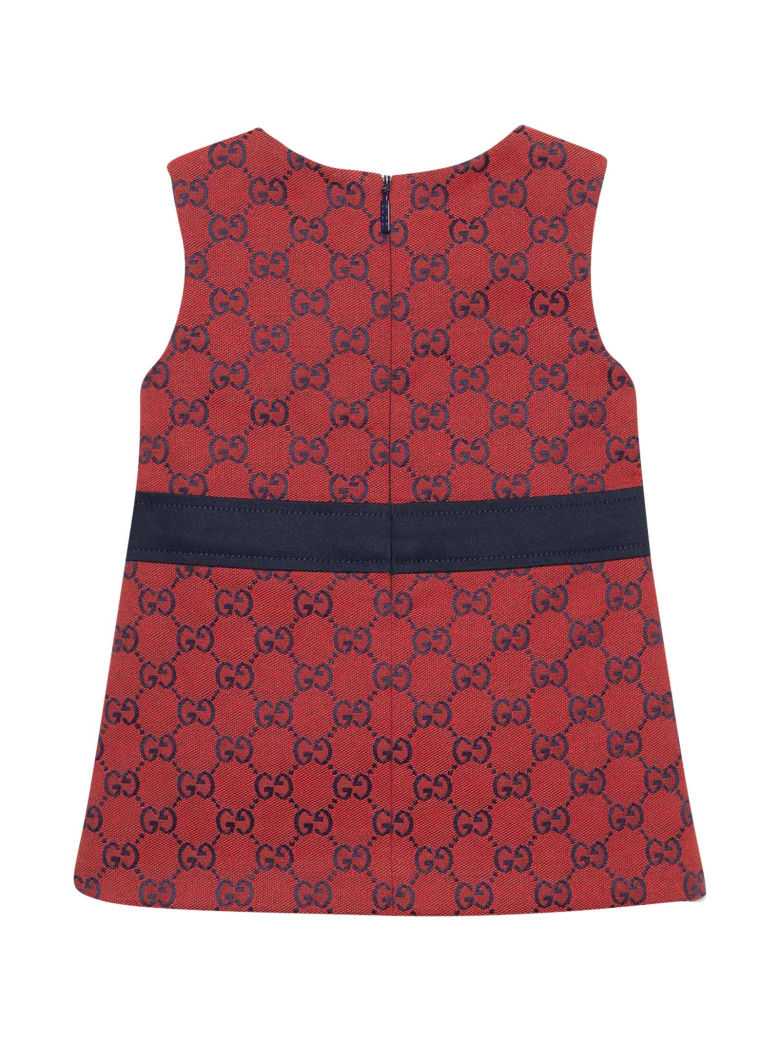 Gucci Red Tress With Logo Print - Rosso/blu