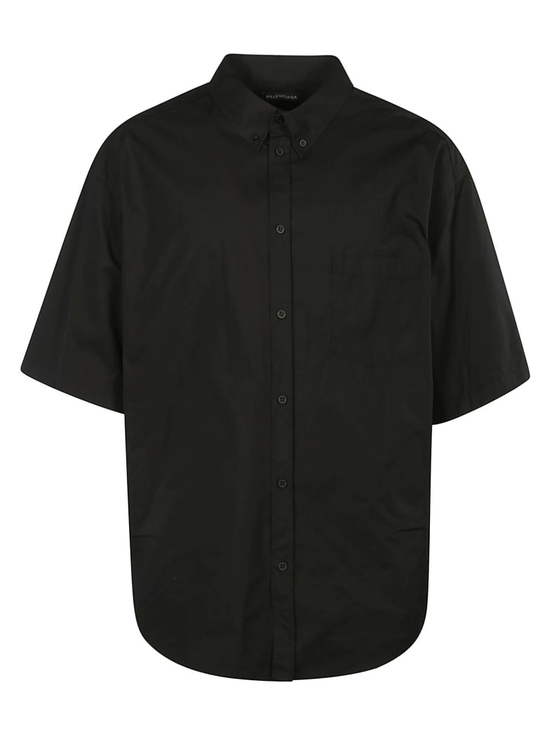 Balenciaga Back Logo Print Short-sleeved Shirt - Nero