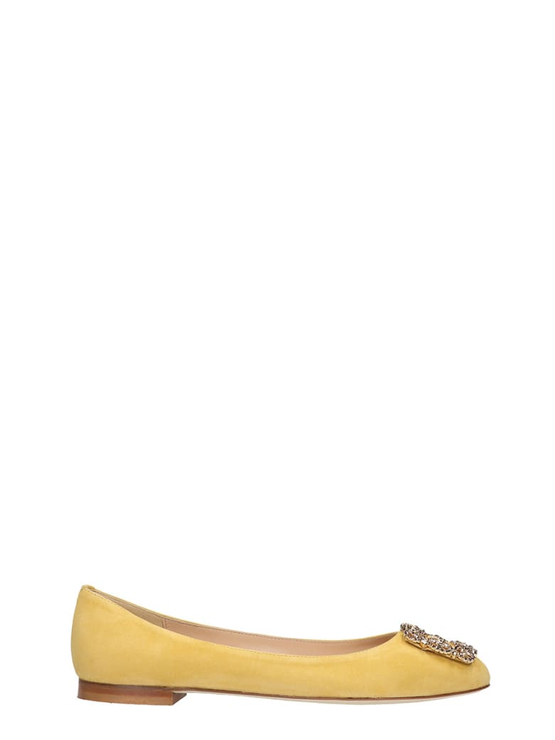 Fabio Rusconi Ballet Flats In Yellow Suede - yellow