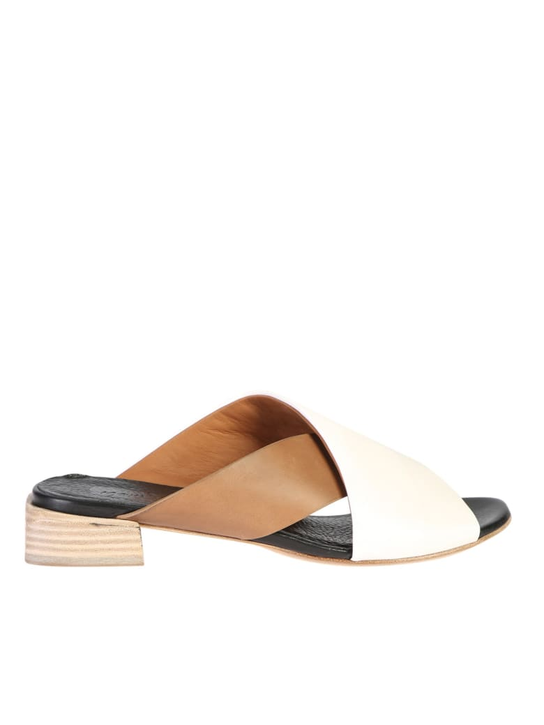 Marsell Contrasting Straps Sandals - White