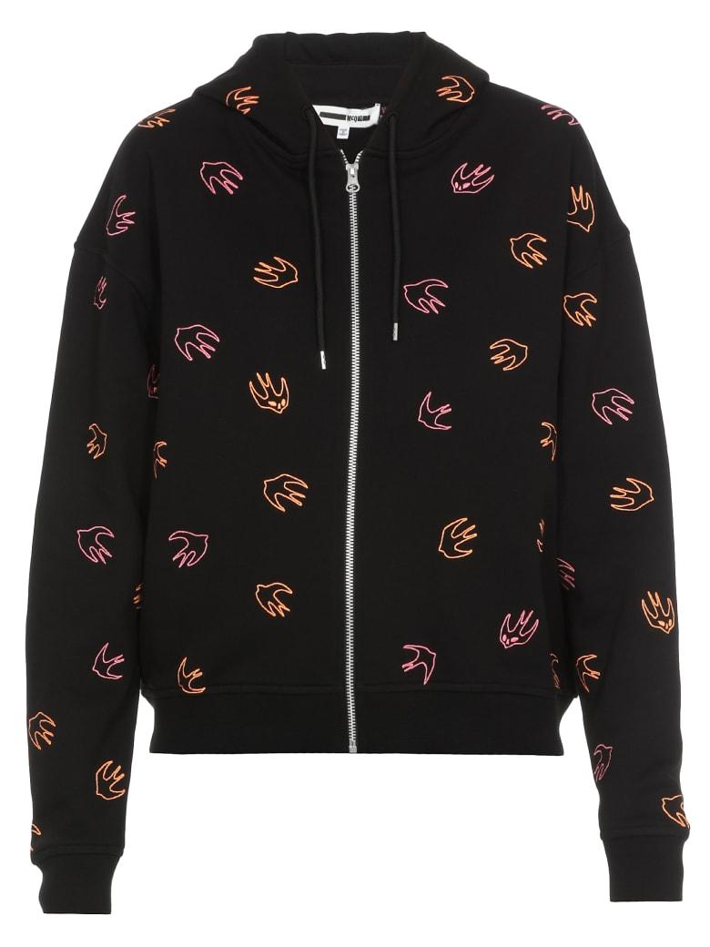 McQ Alexander McQueen Swallow Swarm Sweatshirt - Darkest Black