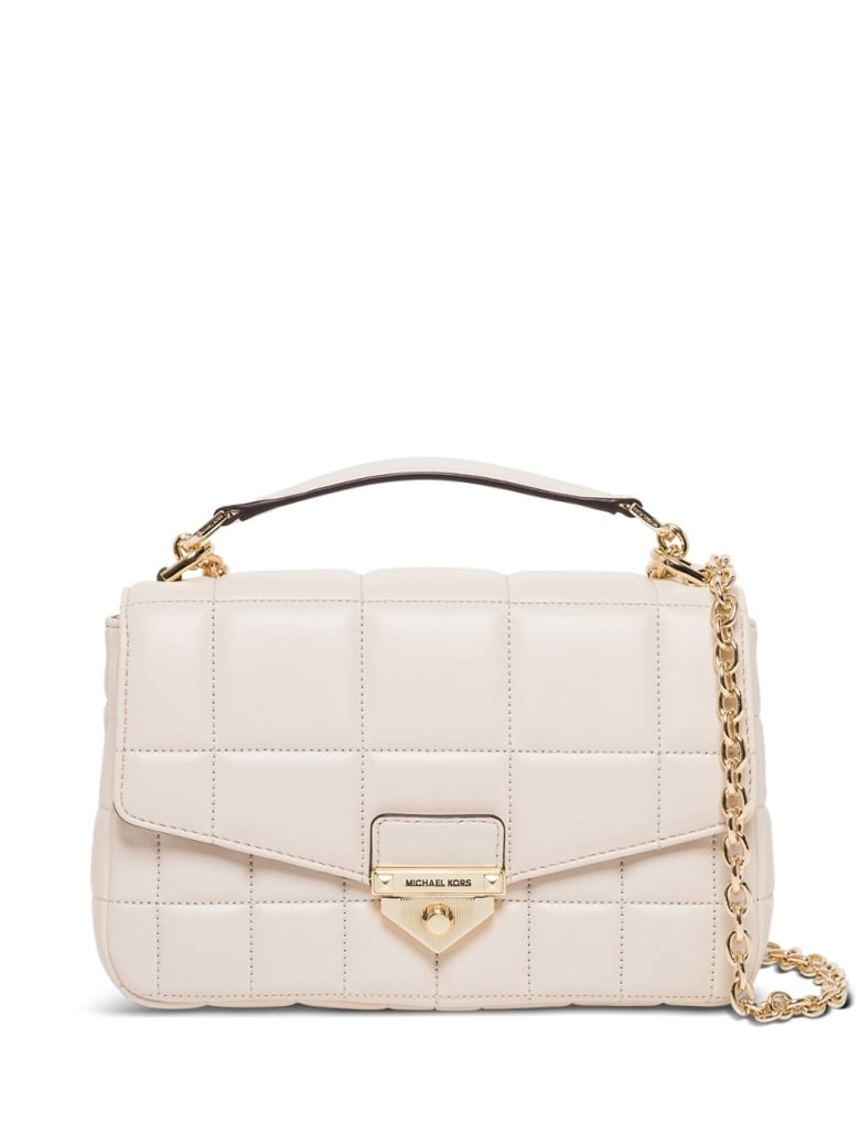 MICHAEL Michael Kors Soho Crossbody Bag In Quilted Leather - White