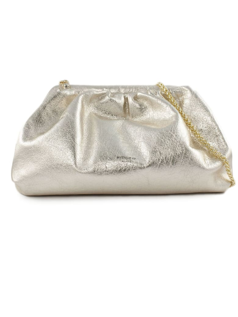 Avenue 67 Puffy Bag In Gold-tone Leather - Oro