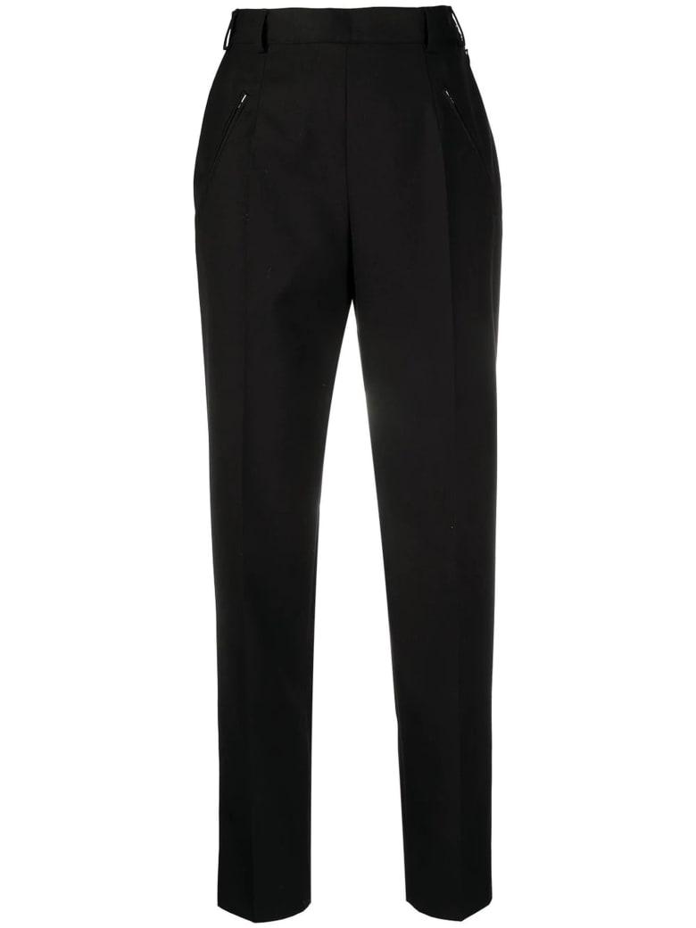 Maison Margiela Black Wool-blend Tailored Trousers - Nero