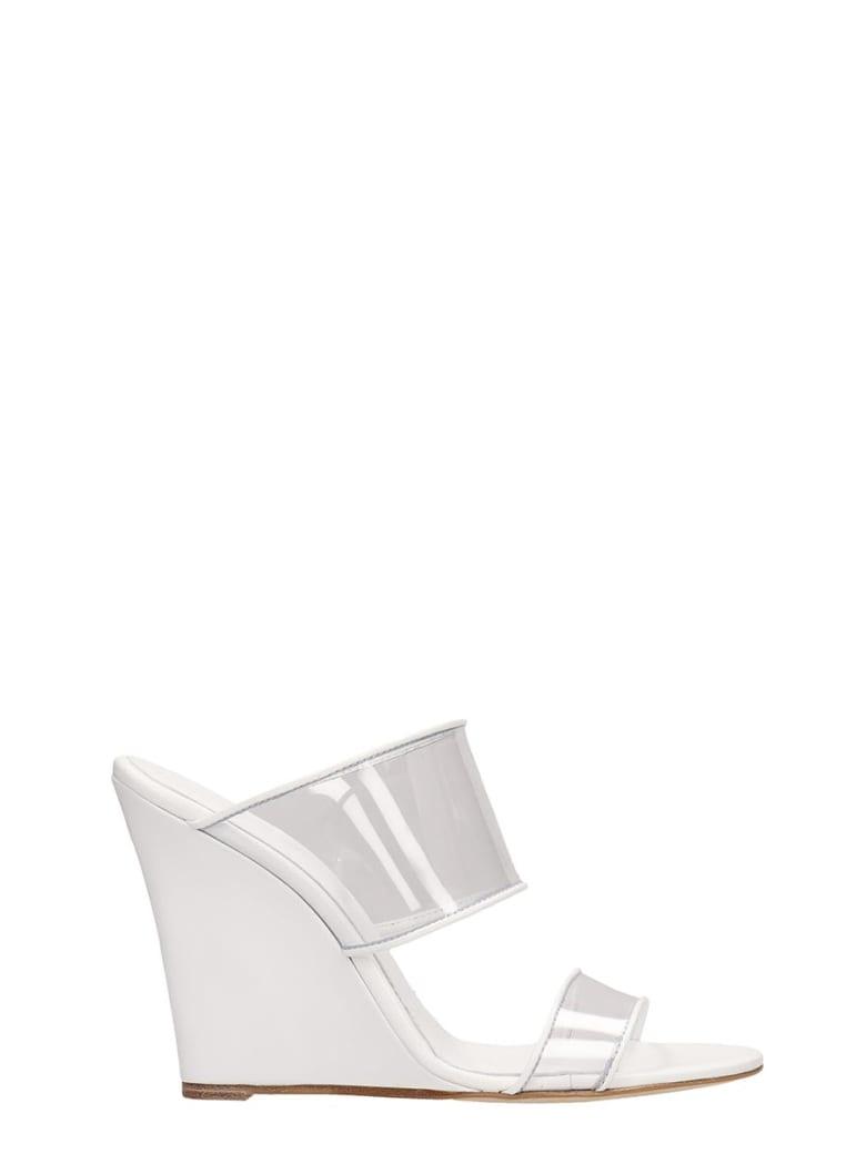 Paris Texas Plexi Sandals Mules - white