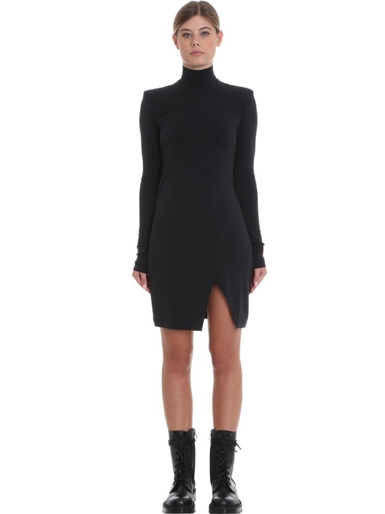 HERON PRESTON Jersey Dress Dress In Black Cotton - black