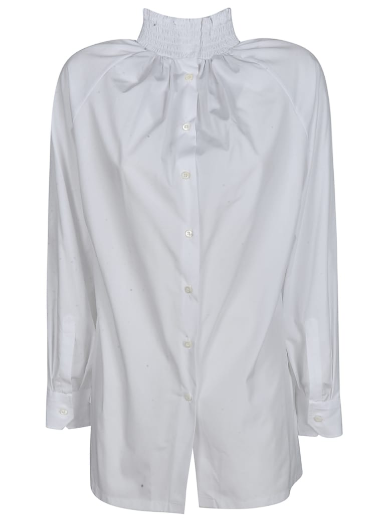 Prada Ribbed Neck Shirt - Azzurro