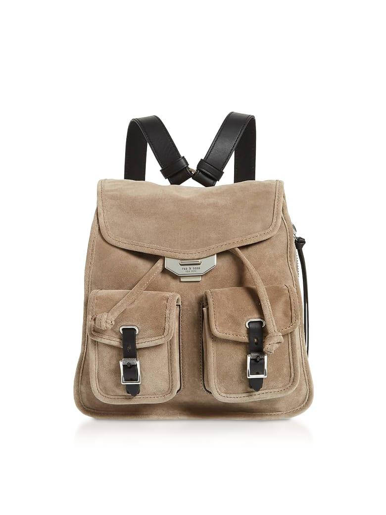 Rag & Bone Warm Grey Suede Field Small Backpack - Gray