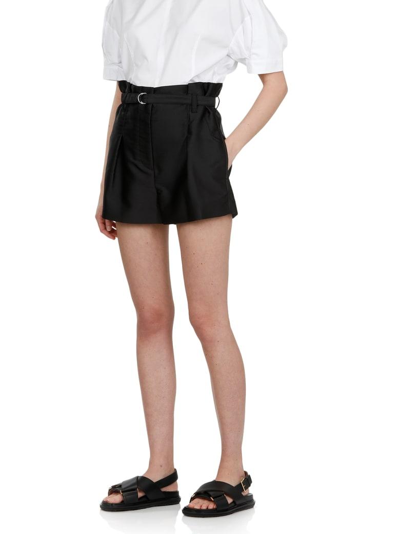 3.1 Phillip Lim Satin Origami Short - BLACK